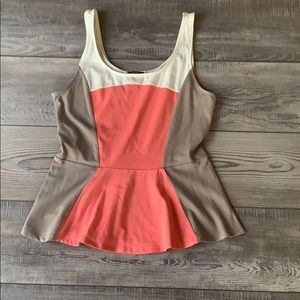 NWOT Express color blocked peplum top